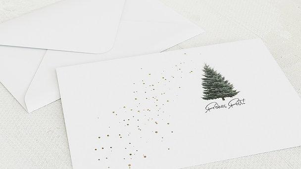 Umschlag mit Design Weihnachten - Goldfunkel