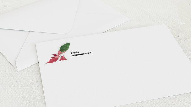 Umschlag mit Design Weihnachten - Adventsstern