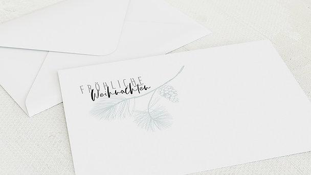 Umschlag mit Design Weihnachten - Zapfen & Zweiglein