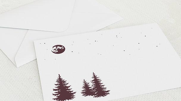 Umschlag mit Design Weihnachten - Winternacht