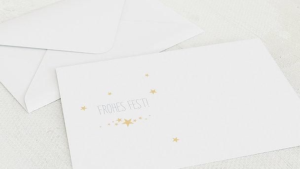 Umschlag mit Design Weihnachten - Weihnachtssternchen