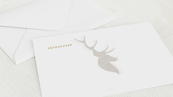 Umschlag mit Design Weihnachten - Elchprofil