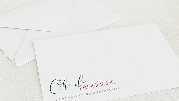 Umschlag mit Design Weihnachten - Oh du