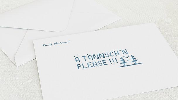 Umschlag mit Design Weihnachten - Ugly Sweater Card