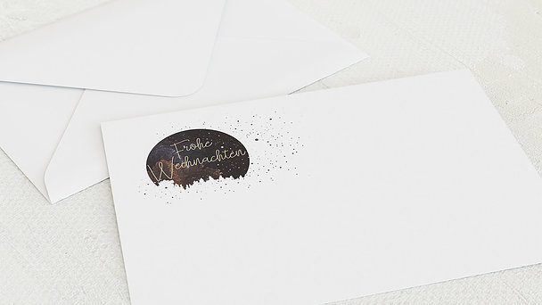Umschlag mit Design Weihnachten - Kosmische Weihnacht