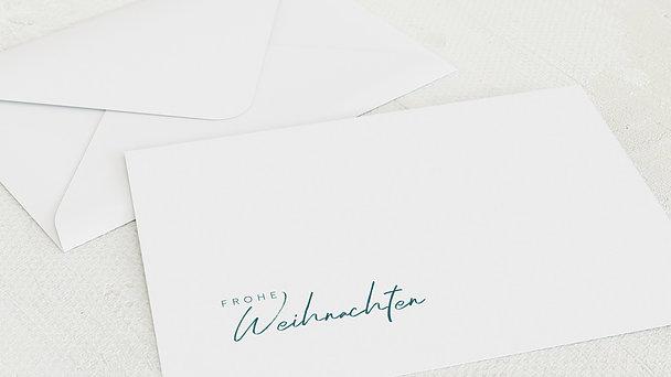 Umschlag mit Design Weihnachten - Eiskristalle