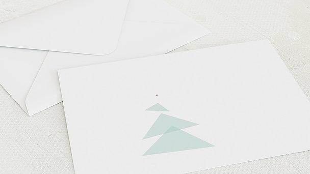 Umschlag mit Design Weihnachten - Abstraktes Bäumchen