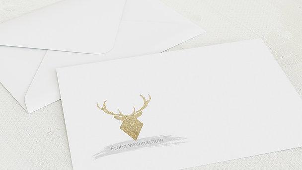 Umschlag mit Design Weihnachten - Goldener Hirsch