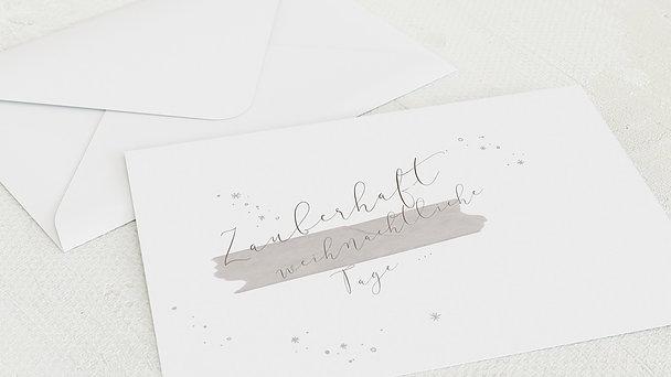 Umschlag mit Design Weihnachten - Leise Wege