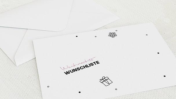 Umschlag mit Design Weihnachten - Mein Wunschzettel