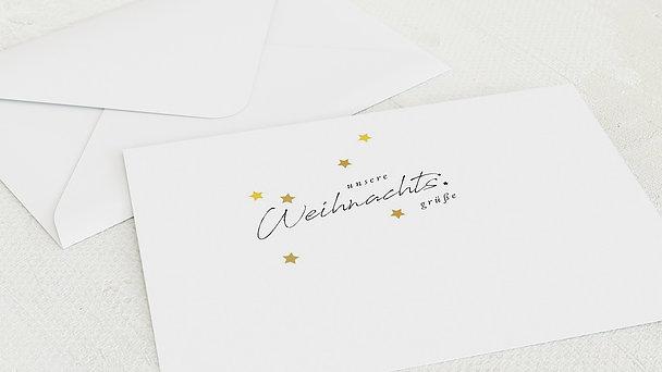 Umschlag mit Design Weihnachten - Sternenglanz