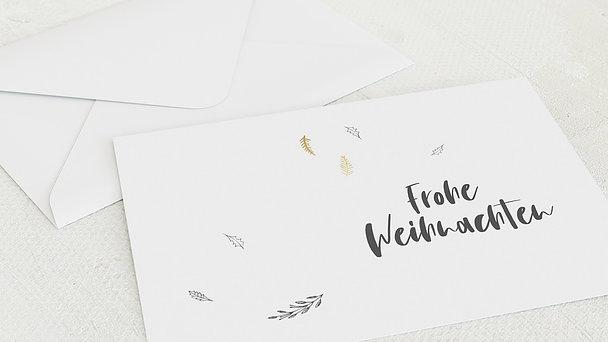 Umschlag mit Design Weihnachten - Frohe Zweiglein