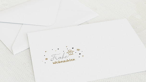 Umschlag mit Design Weihnachten - Joy all around