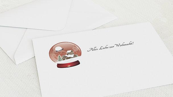 Umschlag mit Design Weihnachten - Schneekugel
