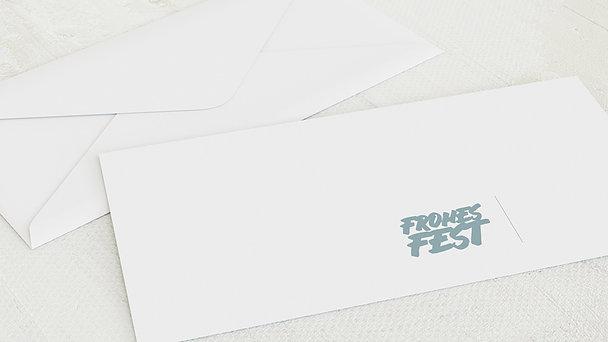 Umschlag mit Design Weihnachten - Fototext Weihnachten