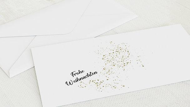 Umschlag mit Design Weihnachten - Zimt und Sterne