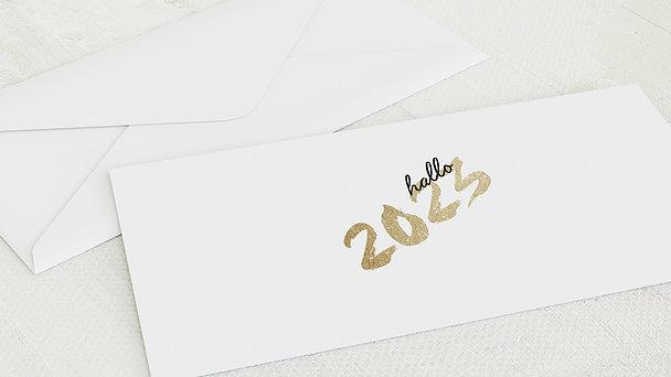 Umschlag mit Design Weihnachten - Goldenes Jahr