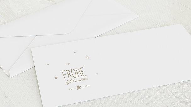 Umschlag mit Design Weihnachten - Rustique