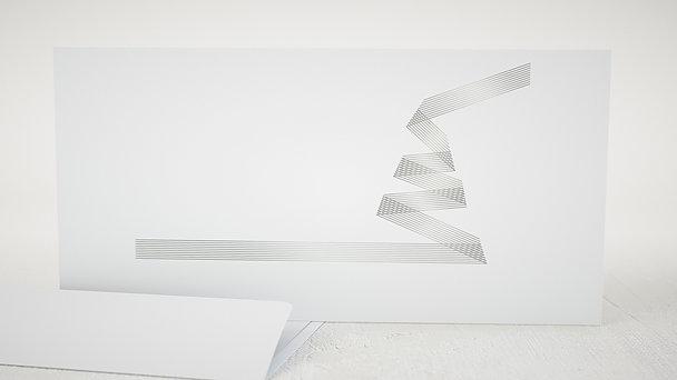 Umschlag mit Design Weihnachten - Weihnachtsband