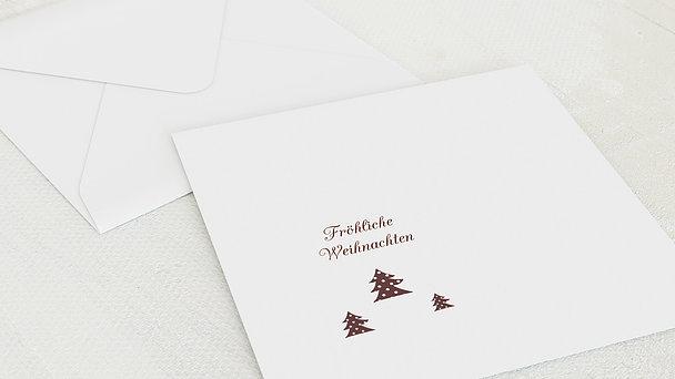 Umschlag mit Design Weihnachten - Winter Forest