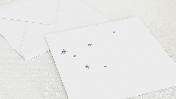 Umschlag mit Design Weihnachten - Erste Schneeflocke