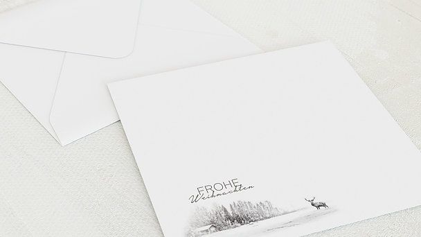 Umschlag mit Design Weihnachten - Der Elch