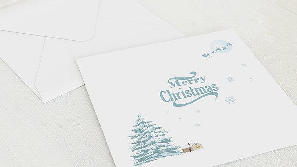 Umschlag mit Design Weihnachten - Weisse Weihnacht