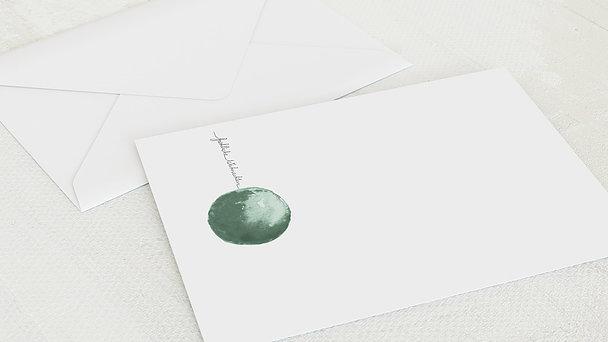Umschlag mit Design Weihnachten - Rote Weihnachtskugel