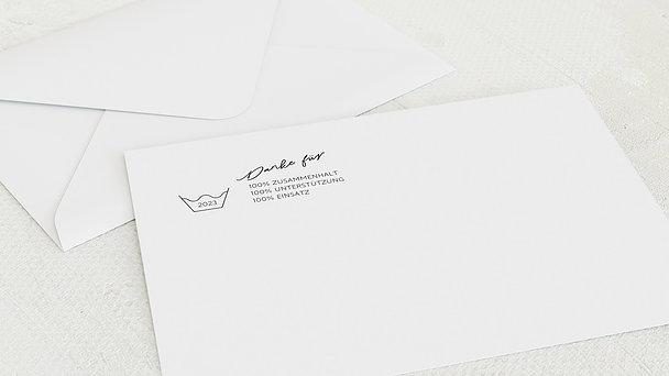 Umschlag mit Design Weihnachten Geschäftlich - Schleudergang