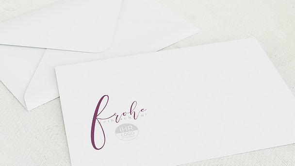 Umschlag mit Design Weihnachten Geschäftlich - Schlichte Eleganz