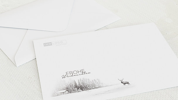 Umschlag mit Design Weihnachten Geschäftlich - Der Elch