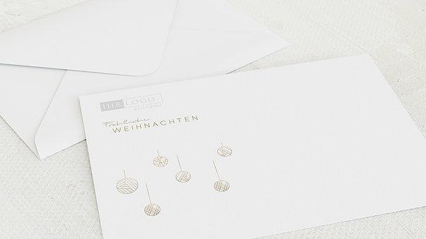 Umschlag mit Design Weihnachten Geschäftlich - Festlicher Glanz