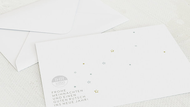 Umschlag mit Design Weihnachten Geschäftlich - Hirschikone