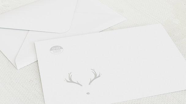 Umschlag mit Design Weihnachten Geschäftlich - Hirschspuren