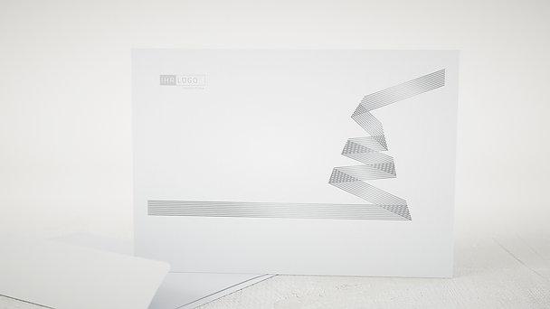 Umschlag mit Design Weihnachten Geschäftlich - Weihnachtsband