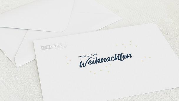 Umschlag mit Design Weihnachten Geschäftlich - Sternennacht