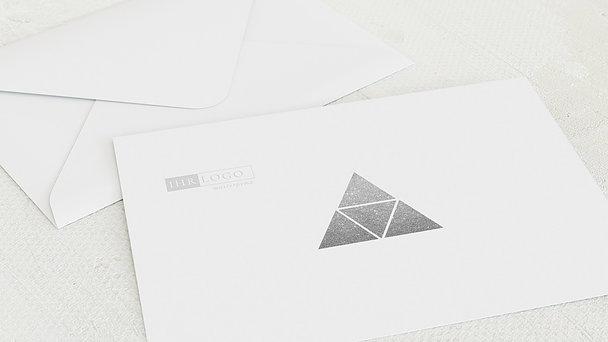 Umschlag mit Design Weihnachten Geschäftlich - Pyramiden
