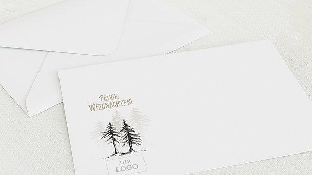 Umschlag mit Design Weihnachten Geschäftlich - Stille Zeit