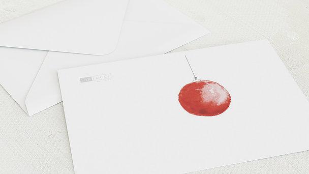 Umschlag mit Design Weihnachten Geschäftlich - Weihnachtskugel aquarell