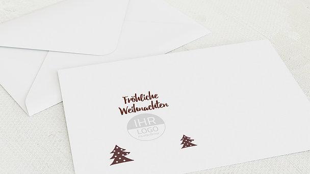 Umschlag mit Design Weihnachten Geschäftlich - Winter Forest