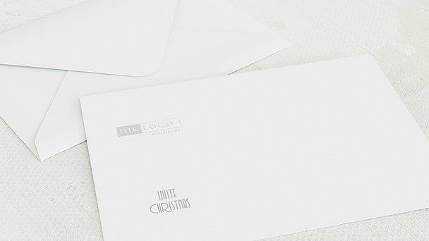 Umschlag mit Design Weihnachten Geschäftlich - Weiße Weihnachten
