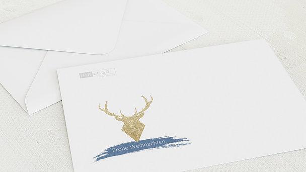 Umschlag mit Design Weihnachten Geschäftlich - Goldener Hirsch