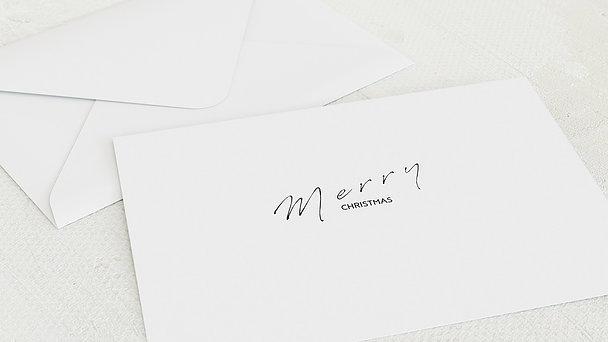Umschlag mit Design Weihnachten Geschäftlich - Zeit für Wünsche