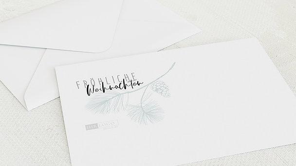 Umschlag mit Design Weihnachten Geschäftlich - Zapfen & Zweiglein