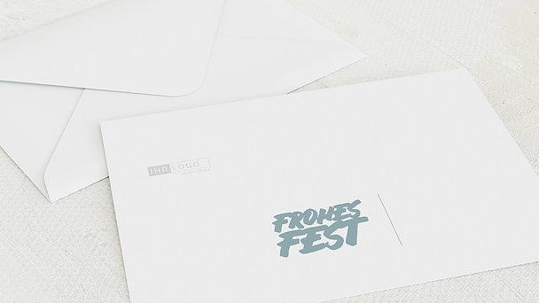 Umschlag mit Design Weihnachten Geschäftlich - Fototext Weihnachten