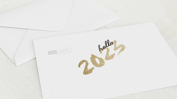 Umschlag mit Design Weihnachten Geschäftlich - Goldenes Jahr
