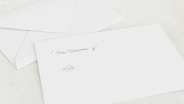 Umschlag mit Design Weihnachten Geschäftlich - Blätterflug