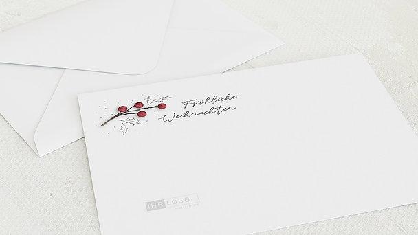 Umschlag mit Design Weihnachten Geschäftlich - Christmas holly