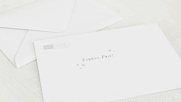 Umschlag mit Design Weihnachten Geschäftlich - Festliche Konturen
