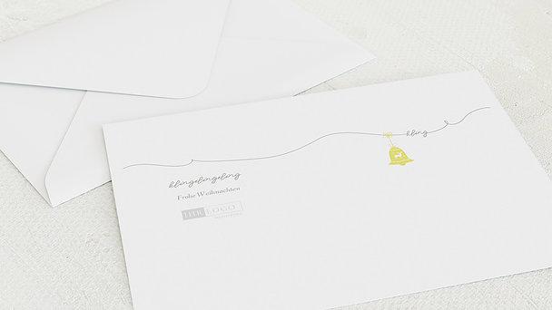 Umschlag mit Design Weihnachten Geschäftlich - Kling Glöckchen